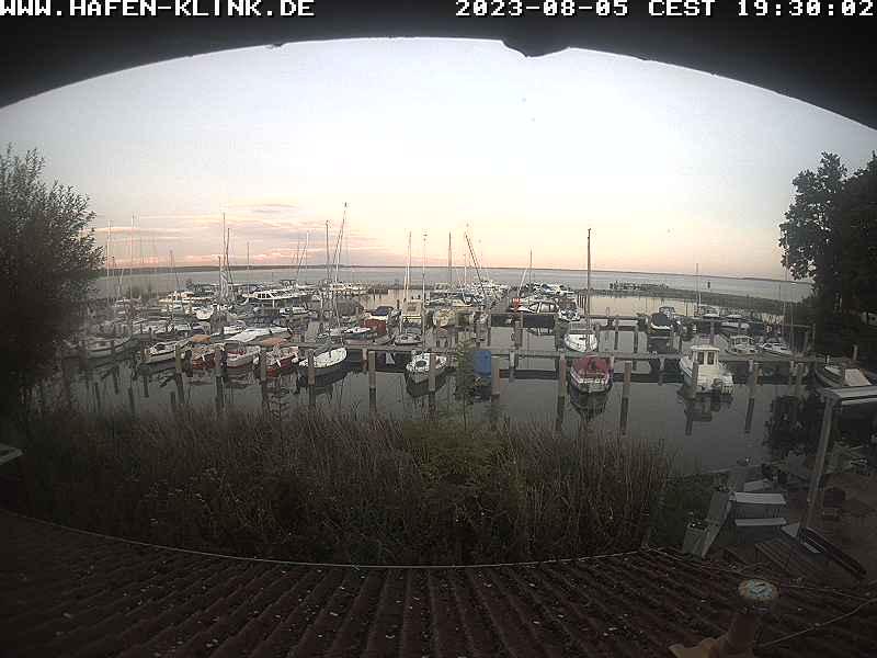 Bild von der Webcam im Hafen Klink